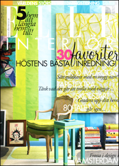 Doug and Gene Meyer Interior ELLE Interior - Sweden August 2012 Photography - Mark Roskams Story by - Ian Phillips