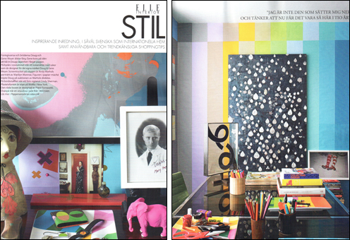 Doug and Gene Meyer Interior  ELLE Interior- Sweden  August 2012 Photography- Mark Roskams  Story by- Ian Phillips